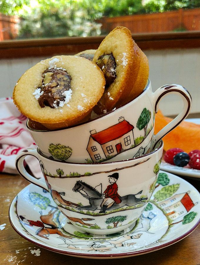 Nutella mini muffins are the perfect grab and go breakfast