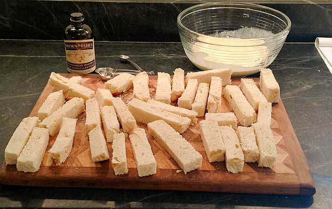 Drying French toast sticks for better portability