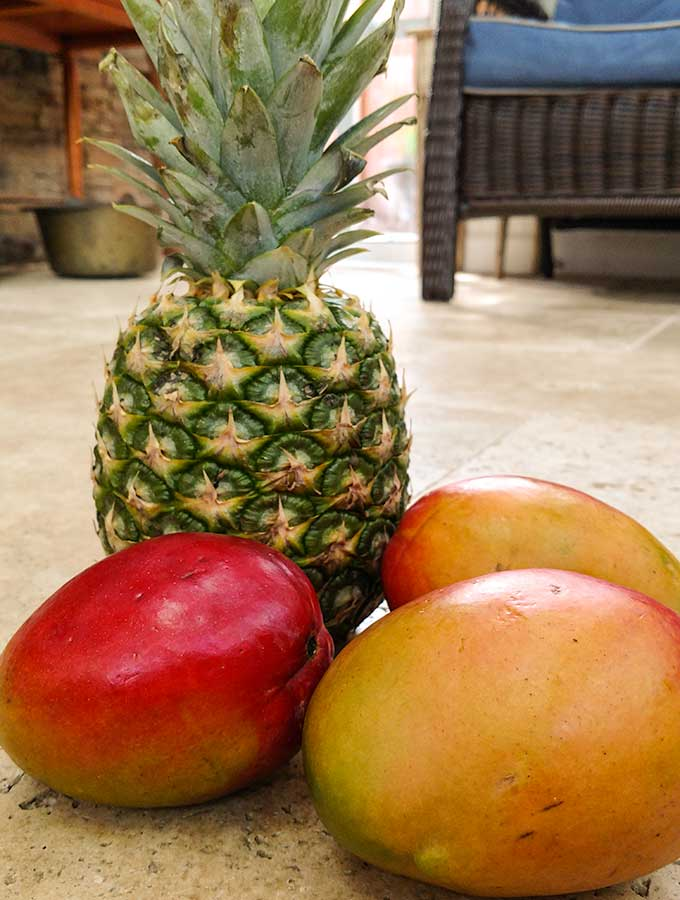 Mango Pineapple combination makes a great green smoothie