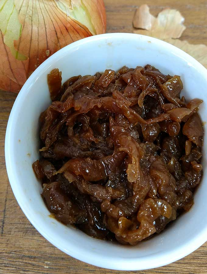 Easy caramelized onions in the slow cooker. Freeze and have ready at a moments notice
