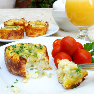 Hash brown egg muffins are a great grab and go breakfast