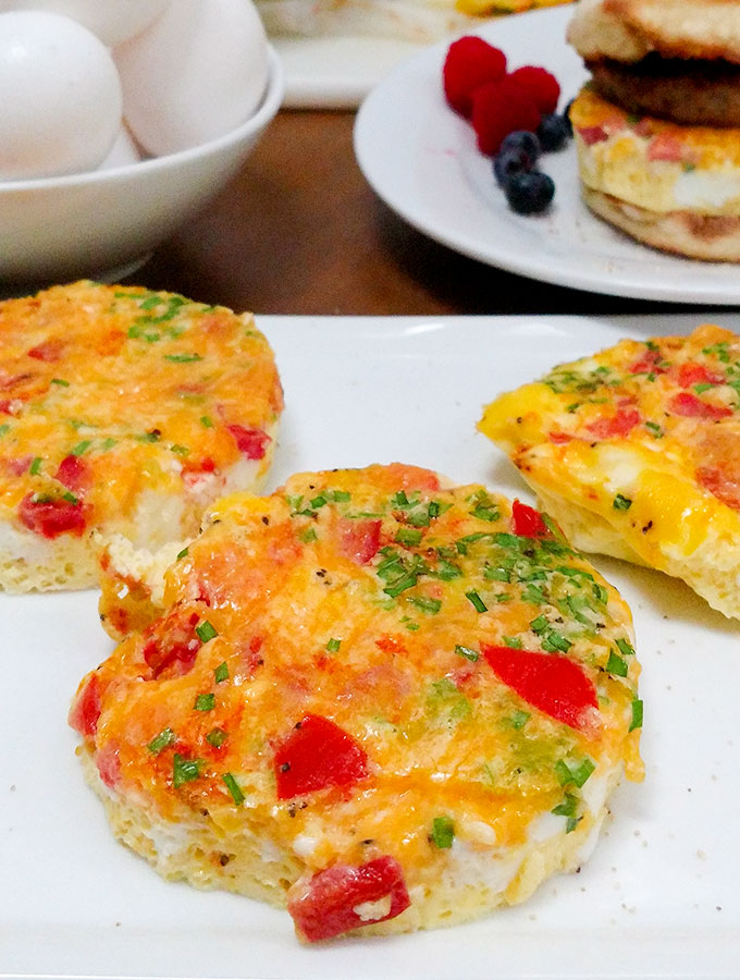 Baked Frittata with tomatoes and cheese is an easy to make breakfast and a great grab and go meal