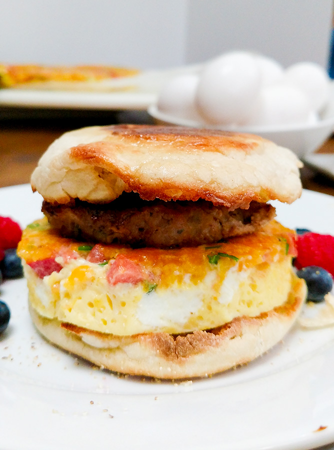 Make ahead freezer breakfast sandwiches are ready in one minute, much healthier fast food breakfast than the drive through