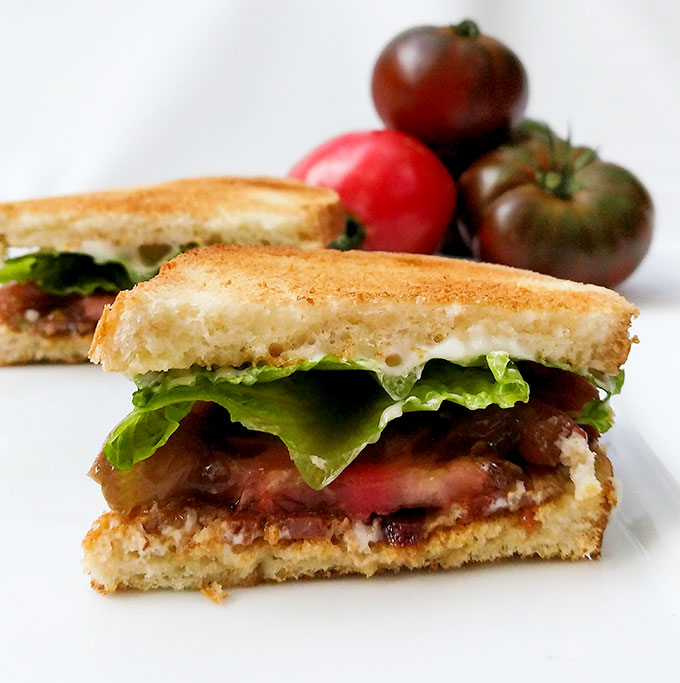 The best BLT sandwich recipe made with flavored mayo and special bacon