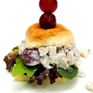 Chicken salad sliders with grapes